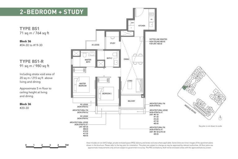 The-M-Floor-Plan-type-bs1-2-bedroom-study-764-sqft